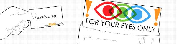 For Your Eyes Only | 4.17.2013 banner